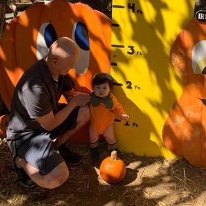 Infant Halloween pumpkin  outfit